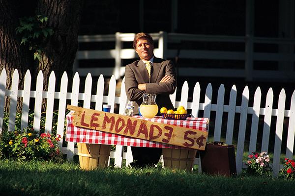 FinTech ecosystem - Adult Managing Lemonade Stand