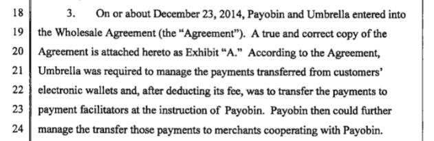 Payobin and Umbrella Onlinetech