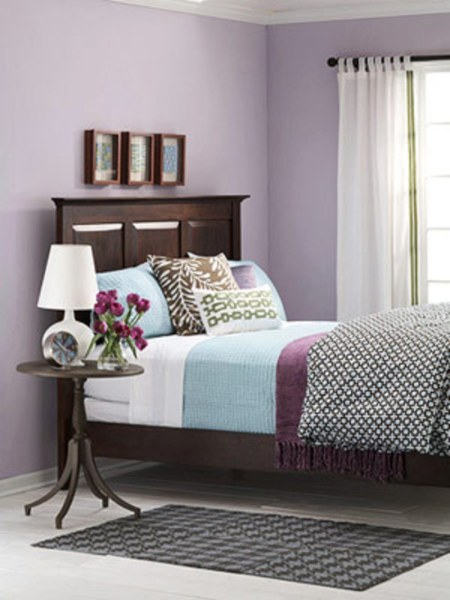 light purple and black bedroom Kleureninspiratie | Fintina