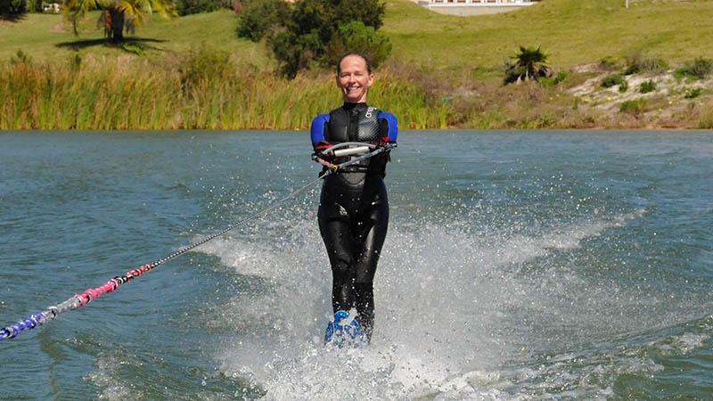 Helen Poscente novice skier