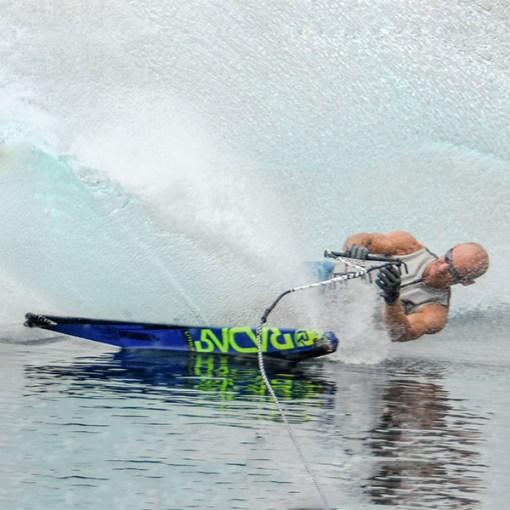 Water ski, fin, binding, setup, tuning