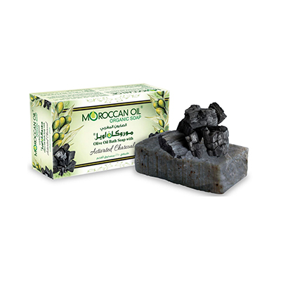 Olive Oil Bath soap with Activated Charcoal by Moroccan Oil