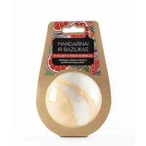 Mandarin and Basil handmade bath bomb