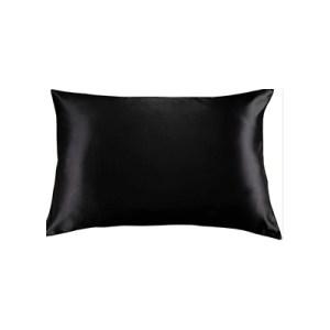 Lecler black silk pillow case