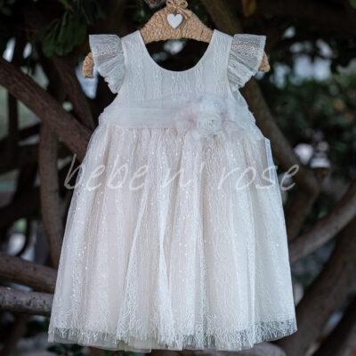 Βαπτιστικό φόρεμα κορίτσι τούλι με στρασ