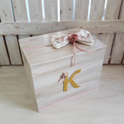 Κουτί ξύλινο με μονόγραμμα