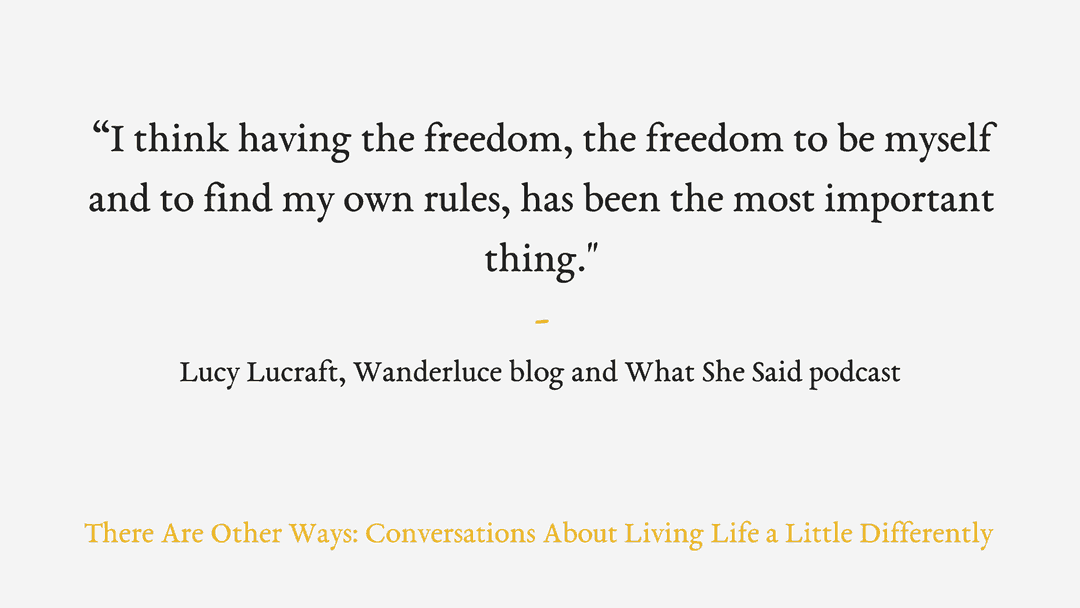 Episode One: Travel blogging, coming home, and being vegan with Lucy Lucraft.