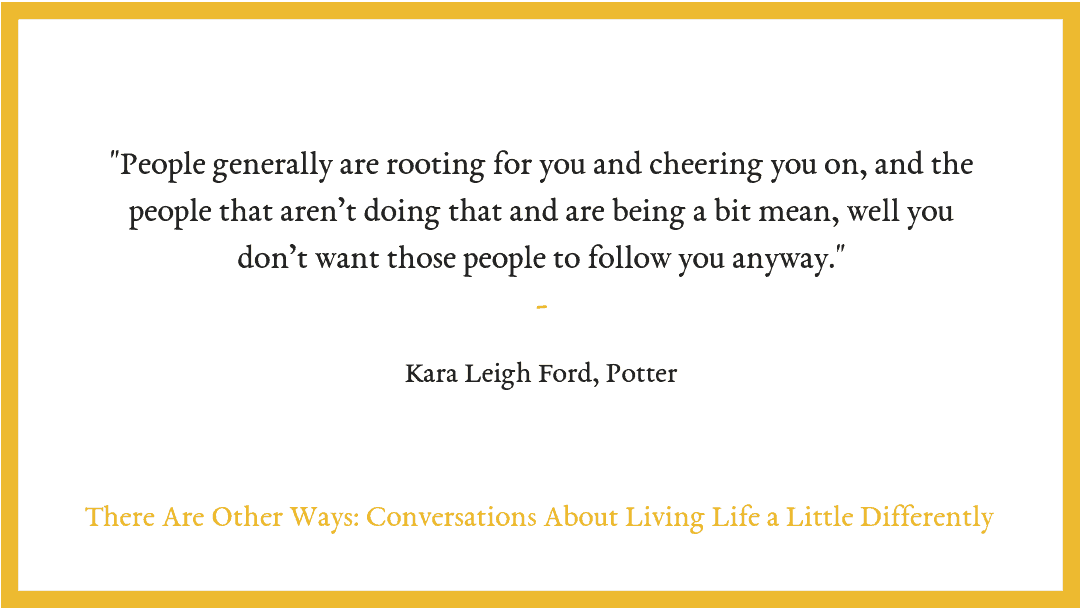 Kara Leigh Ford on making money from making.