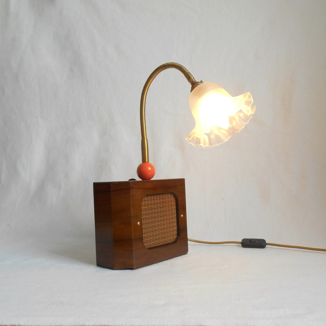Mini speaker lamp by Fiona Bradshaw Designs