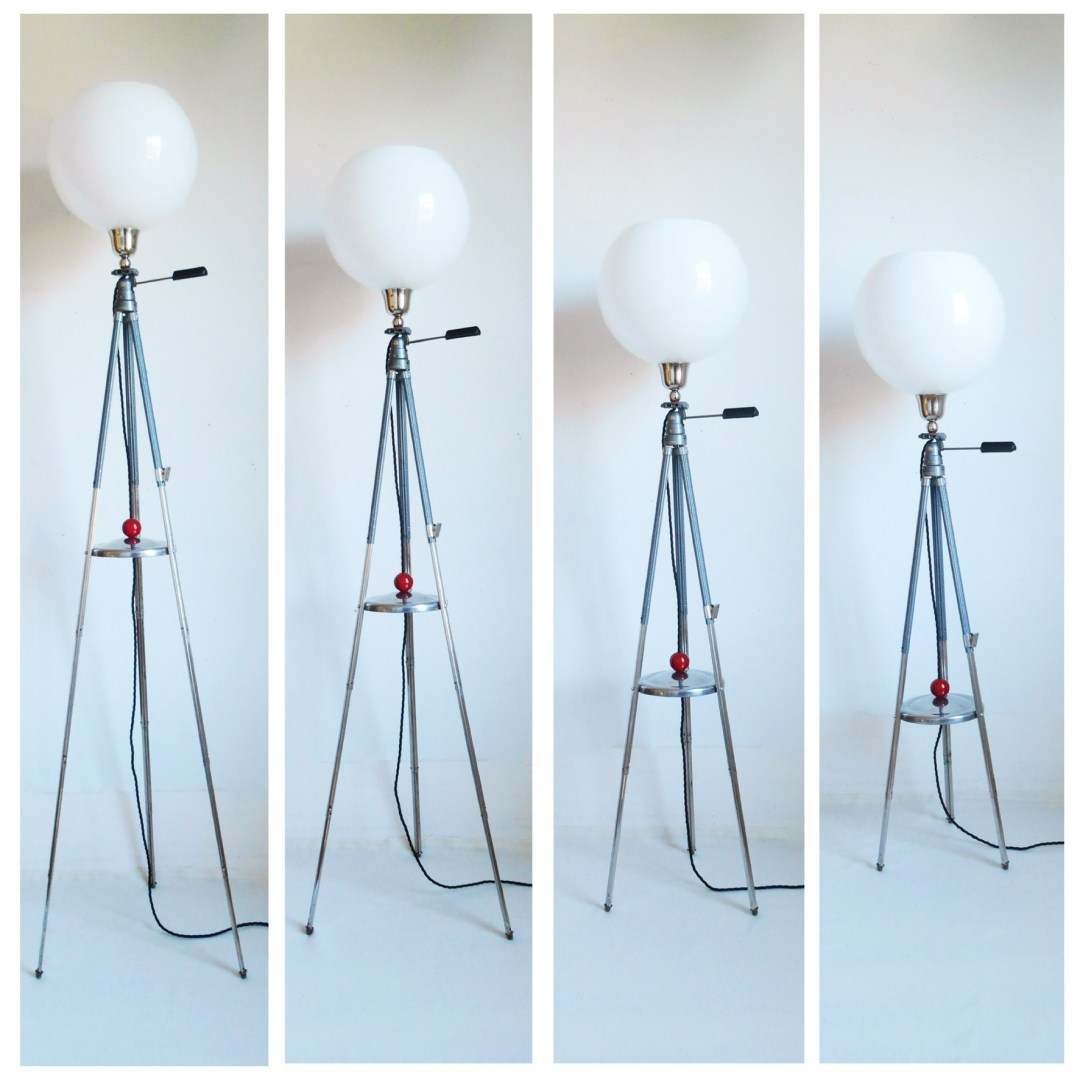 Adjustable tripod lamp by Fiona Bradshaw Designs