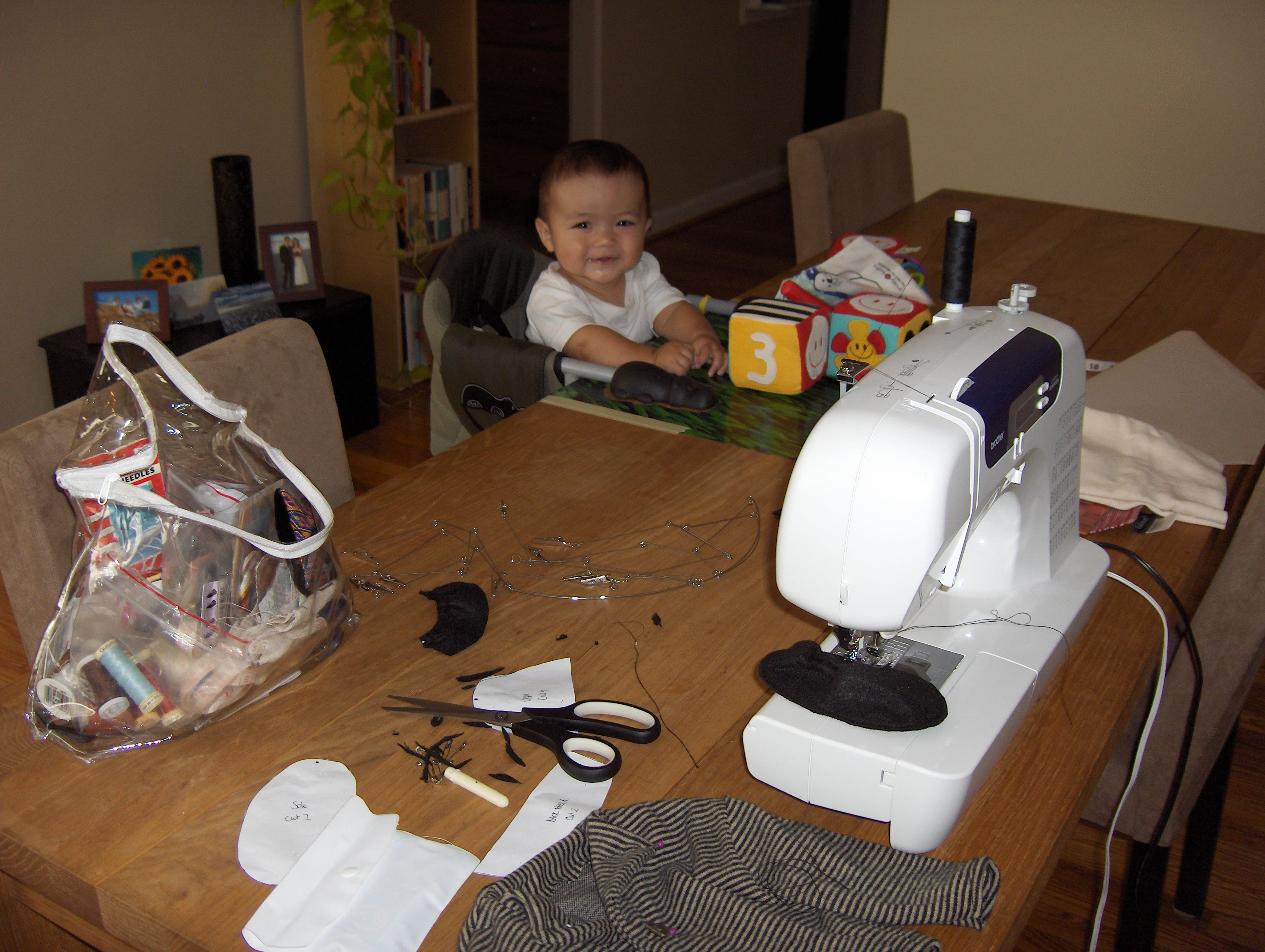 Sewing With My Helper