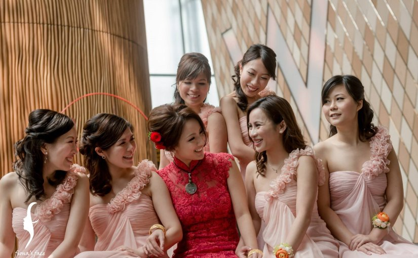 Bridesmaids styling by fiona