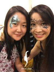 Halloween face painting HK by fiona's face