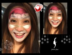 HK face painting artist fiona - Santa Claus