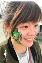 HK face & body painting artist fiona - Robot