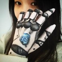HK face & body painting artist fiona - Robot
