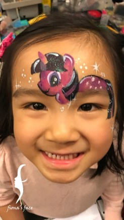 HK face & body painting artist fiona - My little Pony
