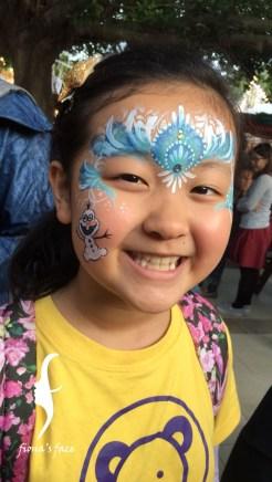 HK face & body painting artist fiona - Frozen Princess