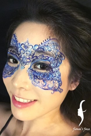 Original design by HK face painting artist fiona