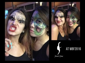 Special Effect makeup by Fiona for a Zombie Crawd Party