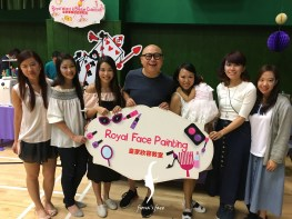 Thanks Pearl & Bob including fiona's face painting team in Haye's 100 kids birthday party!