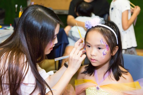 Face painting for eldest sister Faye!