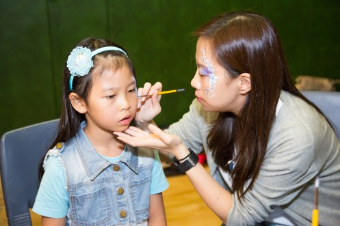 Fiona's face painting team - Alice