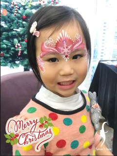 Christmas face painting by fiona's face