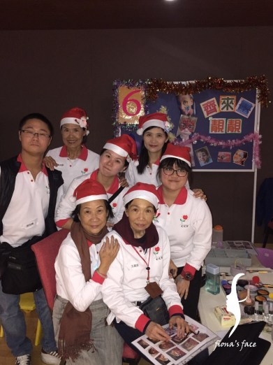 Giving happiness for children with cancer with our face painting since 2015 Christmas