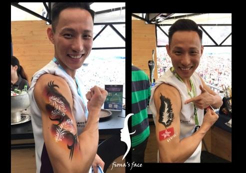 Face Painting in Hong Kong Sevens 2017