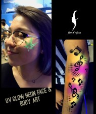UV Grow temporary tattoo HK by fiona's face