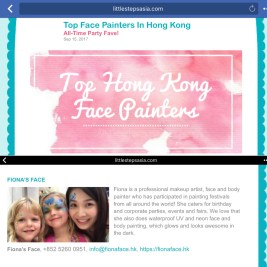 Best HK Face Painting Artist