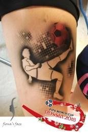 Airbrush waterproof temporary tattoo by Fiona