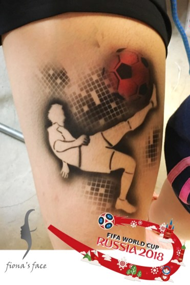 Airbrush waterproof temporary tattoo by Fiona