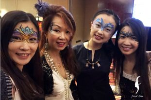 Face painting entertainment in HK Ball