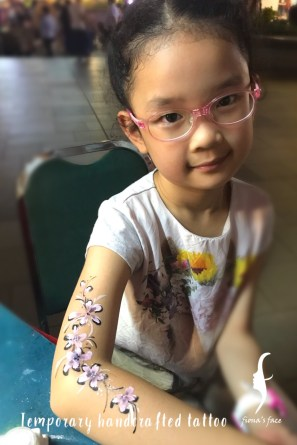 waterproof handcrafted temporary tattoo by HK artist Fiona