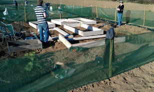 some raised beds (that's my friend Mark helping me out).