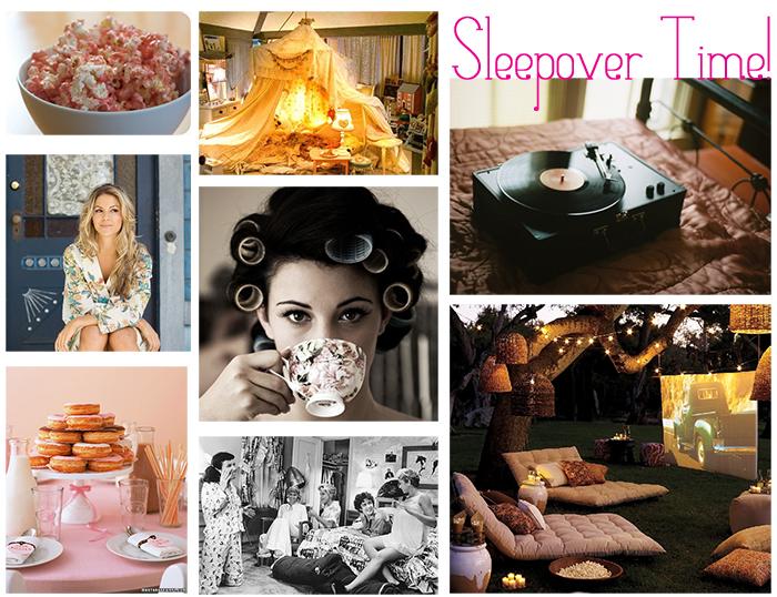 Women's Sleepover Inspiration Board