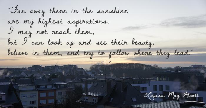 Far Away Louisa May Alcott quote