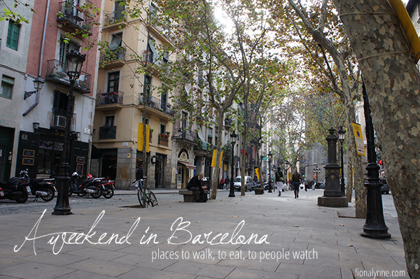 A weekend in Barcelona - tips from Fiona Lynne