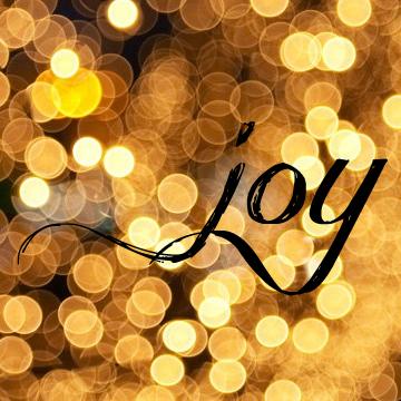 My #oneword365 for 2013 - joy