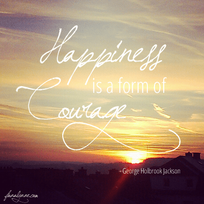 The courage to seek joy (on learning to be happy after my miscarriage)
