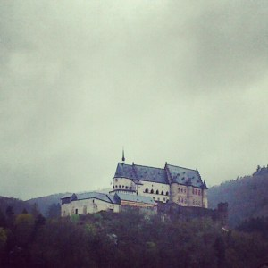 Vianden Castle in the rain