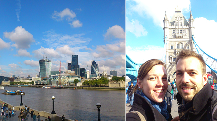 Our romantic weekend in London!