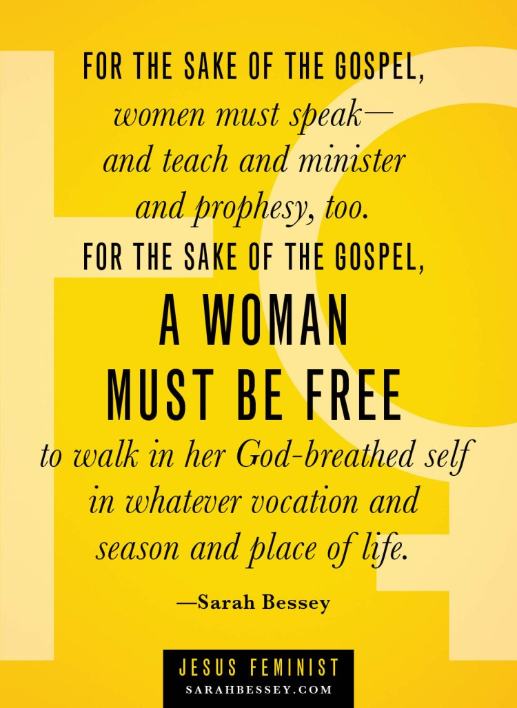 Jesus Feminist // I am not a side issue! - my post for Sarah Bessey's synchroblog