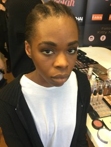 Makeup designer: Kitty Noofah Makeup artist: Fiona Neal for London Fashion Week A/W 17 for Rein London