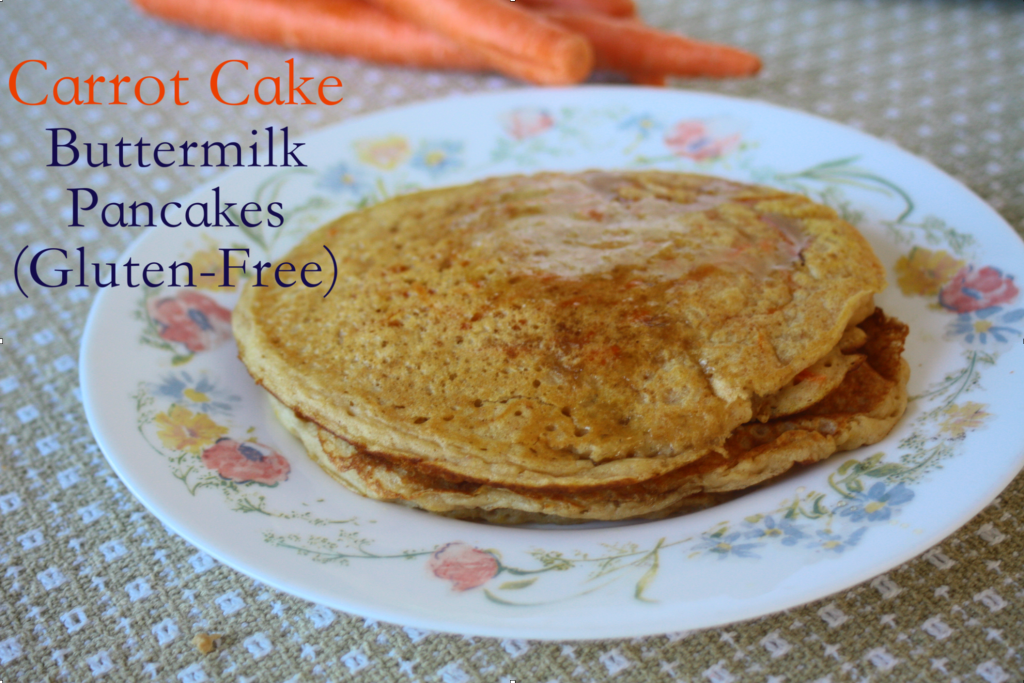 Carrot Cake Buttermilk Pancakes
