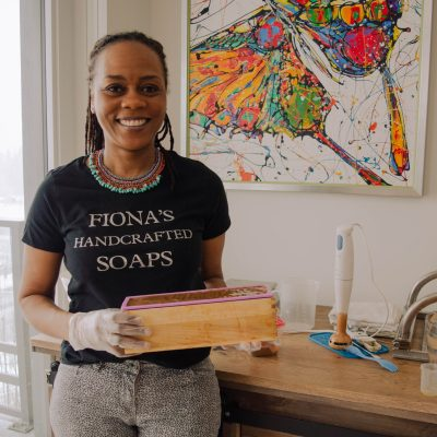 Vanessa Garrett owner of Fiona's Handcrafted Soaps CA - The process of making small batch soaps with Fiona's Handcrafted Soaps