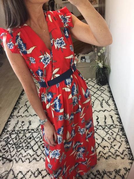 Robe fleurie longue 2018
