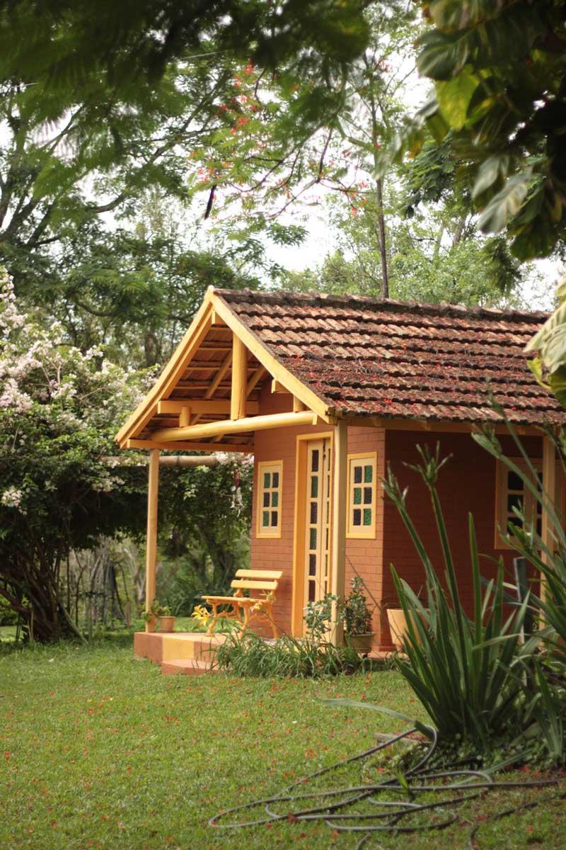Casa de bonecas onde me hospedei no fim de semana